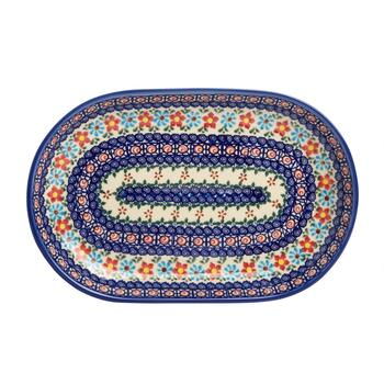 Polish Pottery Anita Floral Oval Serving Platter view 2