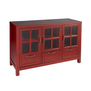 "The Grainhouse™ 45"" Red 3-Door/3-Drawer Television Stand"