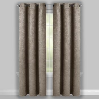 Embosssed Geo Print Room-Darkening Window Curtains, Set of 2 view 2
