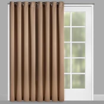 "84"" Patio Room Darkening Grommet Window Curtain"