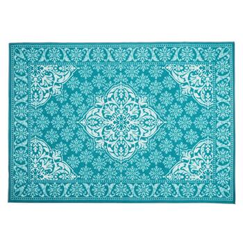 Teal Medallion Area Rug