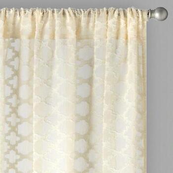 BombayTM 84 Layla Rod Pocket Window Curtains Set Of 2