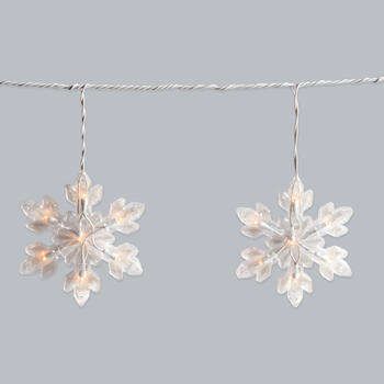 5' Snowflake String Lights, Set of 2