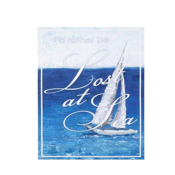 "16""x20"" ""Lost At Sea"" Coastal Indoor/Outdoor Wall Decor"