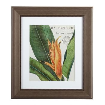 "12""x14"" Orange Flower Framed Wall Decor"