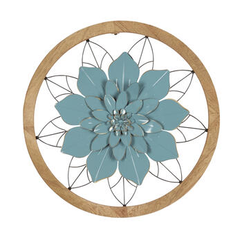 "27"" Layered Flower Wood/Metal Framed Wall Decor view 1"