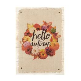 "16""x22"" ""Hello Autumn"" Wreath Cotton/Wood Wall Decor"