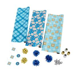Blue Ornaments Executive Wrapping Paper Kit