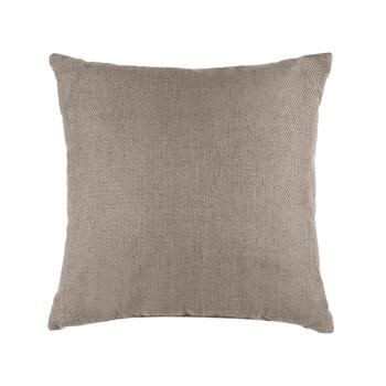 Basketweave Solid Color Square Throw Pillow with Button view 2