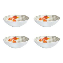 "Plaid ""Fall in Love"" Heavyweight Melamine Bowls, Set of 4"