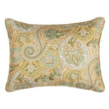 Waverly Paisley Indoor Outdoor Oblong Throw Pillow Christmas Tree