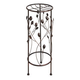 Leaf Branch Round Metal Plant Stand view 1