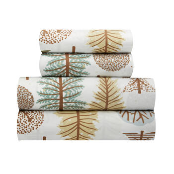 Lodge Trees Microfiber Print Sheet Set view 1