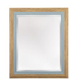 "21""x25"" Janice Natural/Blue Frame Wall Mirror"