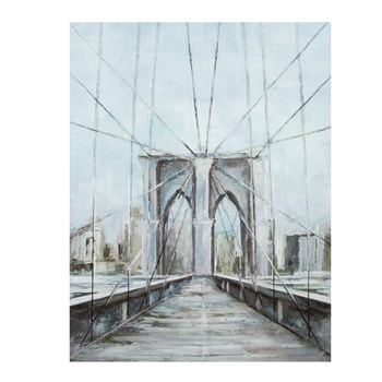 "22""x28"" Painted Bridge Canvas Wall Art view 1"