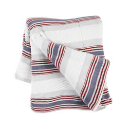 Red/Blue/White Turk Striped Throw view 1