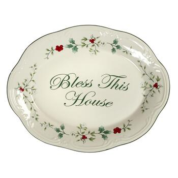 "Famous Maker ""Bless This Home"" Serving Platter"