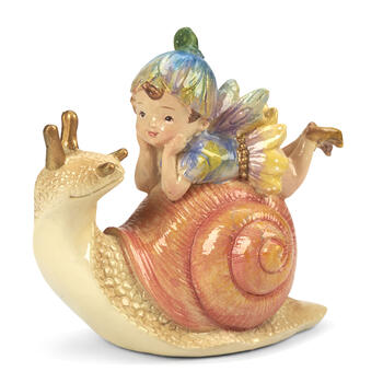 Fairy with Snail Decor view 1