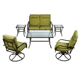 Durham Green Outdoor Chat Set, 6-Piece