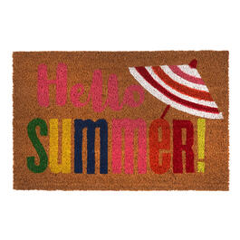 """Hello Summer"" Coir Door Mat view 1"
