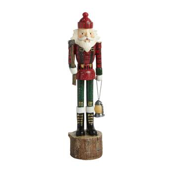 "15"" Lumberjack Nutcracker with Lighted Lantern"