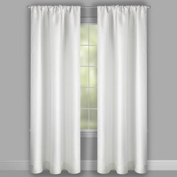 Perfect Window White Pebble Window Curtains, Set of 2 view 2