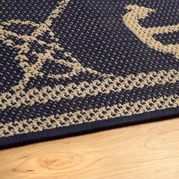 Rope Grid Anchor All-Weather Rug view 2