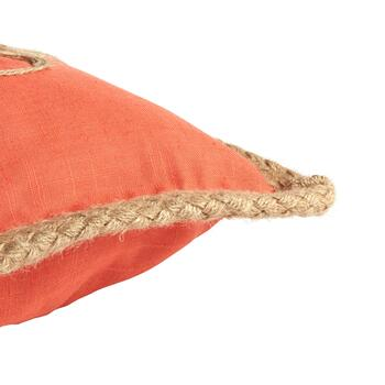 """Relax"" Coral Oblong Throw Pillow view 2 view 3"