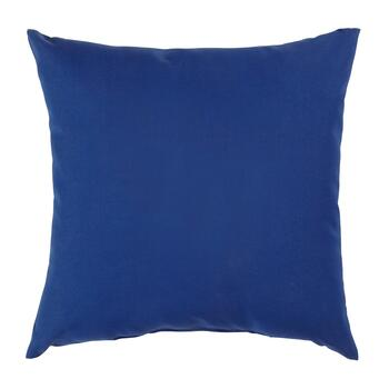 Solid Cobalt Indoor/Outdoor Square Throw Pillow