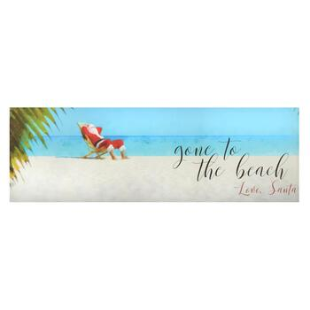 """Gone To the Beach"" Santa Canvas Wall Decor"