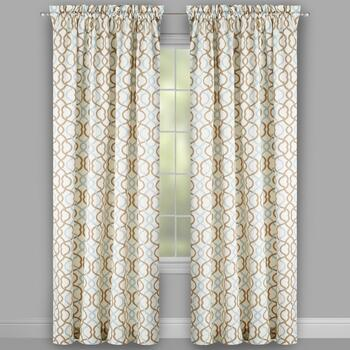 "Traditions by Waverly® 84"" Geometric Waves Window Curtains, Set of 2"