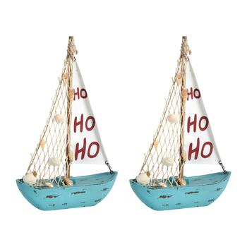 "11.25"" ""Ho Ho Ho"" Shell Sailboat Decor view 1"