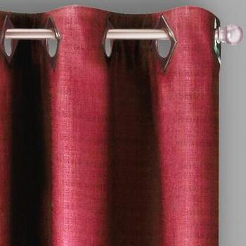 Solid Textured Grommet Window Curtains, Set of 2
