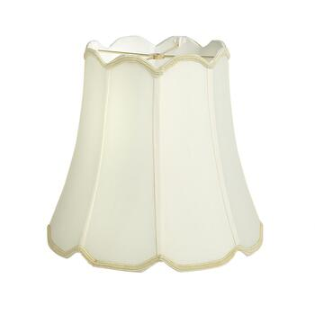 "15"" Scalloped Silk Lamp Shade"