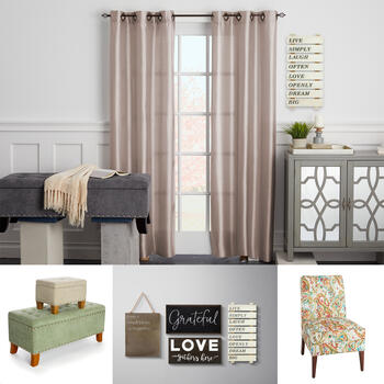 Chairs, Wall Decor, Curtains & Hardware view 1