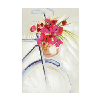 "24""x36"" Bicycle Bouquet Canvas Wall Art view 1"