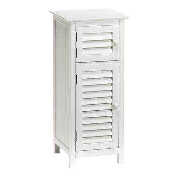 Small White 2-Door Louver Cabinet