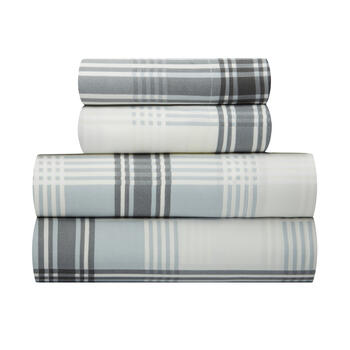 Plaid Print Microfiber Sheet Set view 1