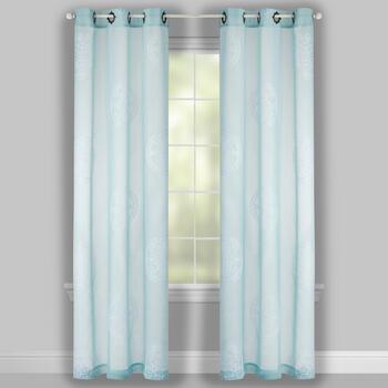 "84"" Medallion Embroidered Window Curtains, Set of 2 view 2"