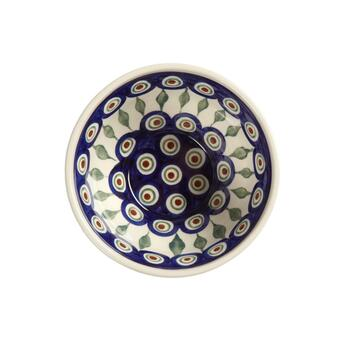 Polish Pottery Peacock Cereal Bowls, Set of 4 view 2
