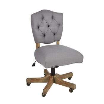 Kelsey Upholstered Rolling Office Chair