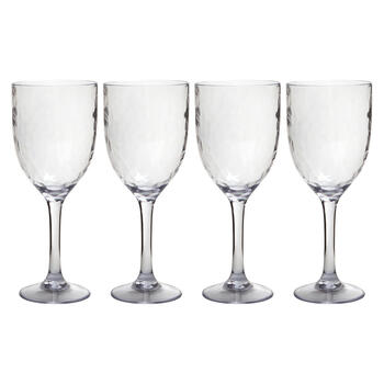 Hammered Acrylic Wine Glasses, Set of 4 view 1