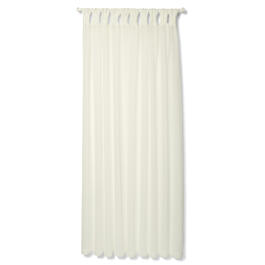 Petal and Stone™ Cuffed White Curtains view 1