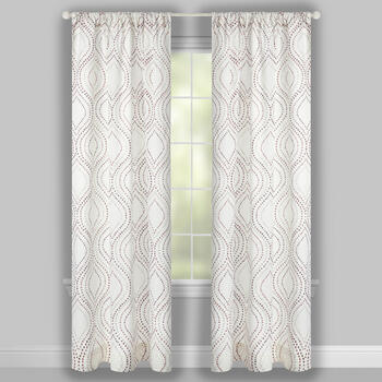 Mindi Dotted Ogee Window Curtains, Set of 2 view 2