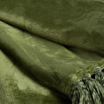 Pine Tree Embossed Throw Blanket with Fringe view 2