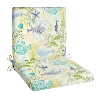 Aquatic Life Indoor/Outdoor Mid-Back Chair Pad