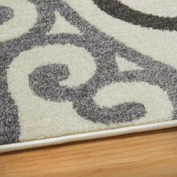 8'x10' Gray Medallions Area Rug view 2