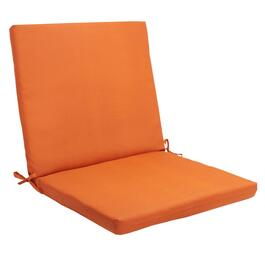 Solid Tangerine Indoor/Outdoor Mid-Back Chair Pad