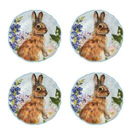 Easter Bunny Melamine Dinner Plates, Set of 4