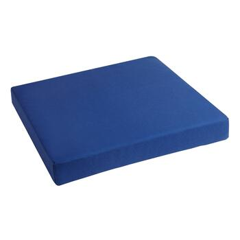 Dark Blue Indoor/Outdoor Squared Seat Pad